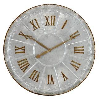 Lambert Galvanized Metal Wall Clock
