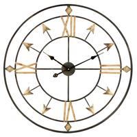 """Kiara Arrow Wall Clock - 30""""H x 30""""W x 1.5""""D"""