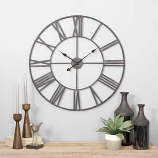Solange Round Metal Wall Clock|https://ak1.ostkcdn.com/images/products/16303950/P22668820.jpg?impolicy=medium
