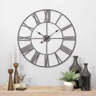Solange Round Metal Wall Clock