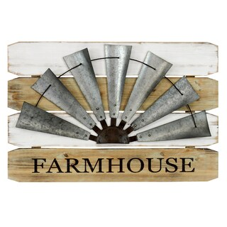 Farmhouse Windmill Wall Sign
