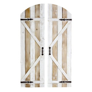 Melrose Farmhouse Doors Wall Decor (Set of 2)