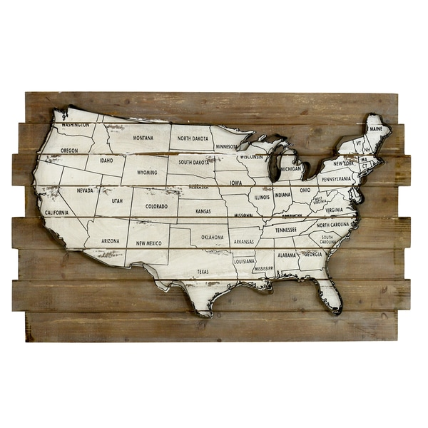 Payson Usa Map Wall Decor Free Shipping Today Overstock: Usa Map Wall Decor At Infoasik.co