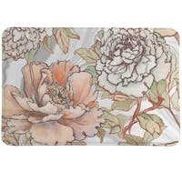 Laural Home Blushing Florals Memory Foam Rug
