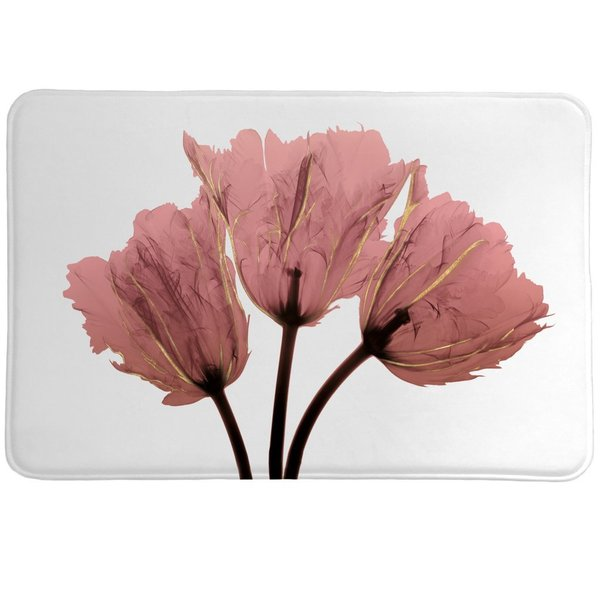 Laural Home Blushing Tulips X-Ray Memory Foam Rug