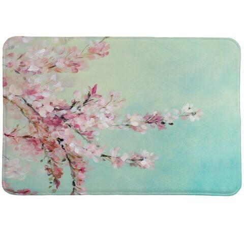 Laural Home Cherry Blooms Memory Foam Rug