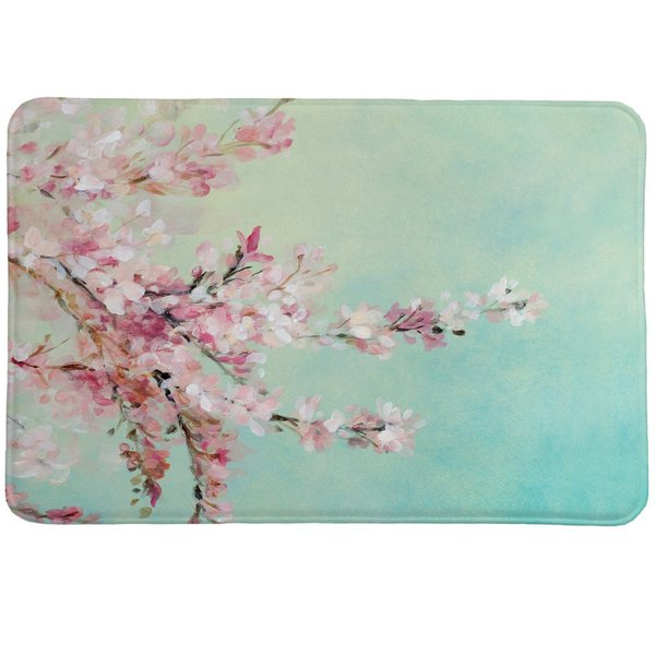 Laural Home Cherry Blooms Memory Foam Rug