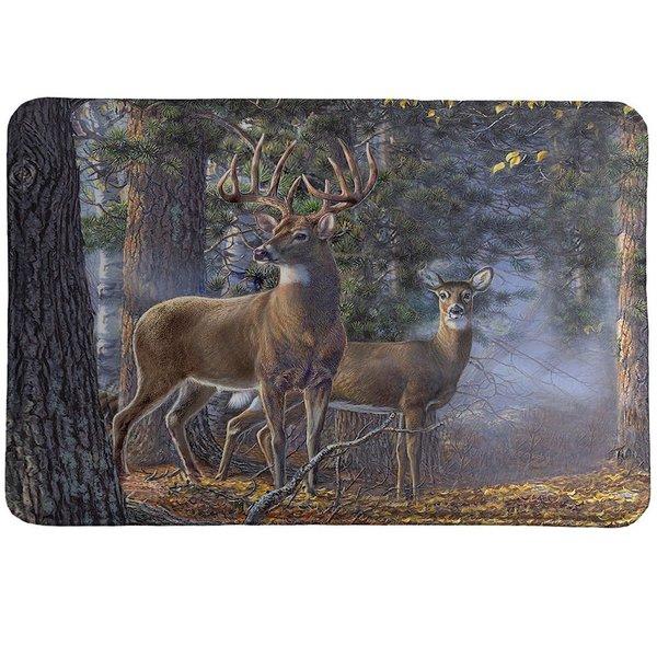Laural Home Majestic Deer Memory Foam Rug