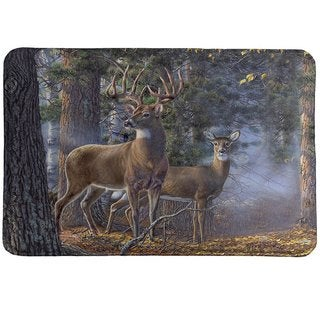 Laural Home Majestic Deer Memory Foam Rug