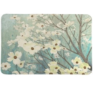 Laural Home Flowering Dogwood Blossoms Memory Foam Rug