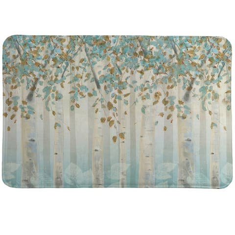 Laural Home Whimsical Forest Memory Foam Rug