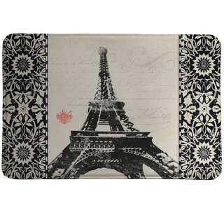 Laural Home Eiffel Tower Pattern Memory Foam Rug