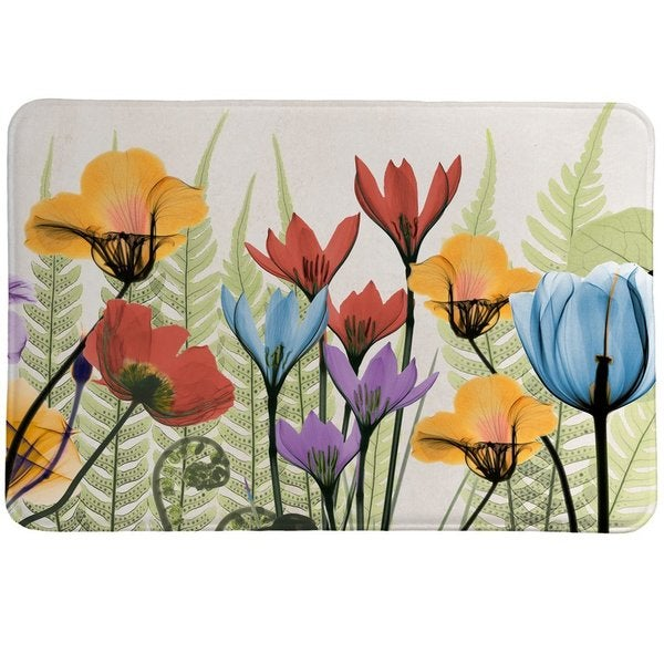 Laural Home X-Ray Flowers Memory Foam Rug
