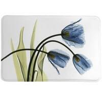 Laural Home Blooming Tulip Trio Memory Foam Rug
