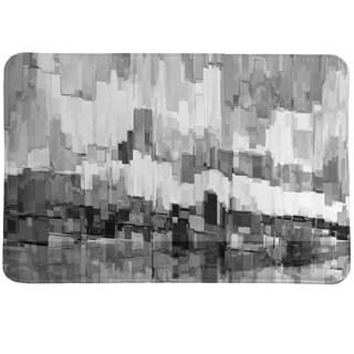 Laural Home Monochromatic Brushstrokes Memory Foam Rug