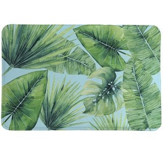 Laural Home Palm Leaves in Paradise Memory Foam Rug