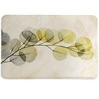 Laural Home Smoky Eucalyptus Fronds Memory Foam Rug