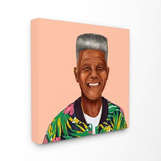HIPSTORY Hipster Nelson Mandela Stretched Canvas Wall Art