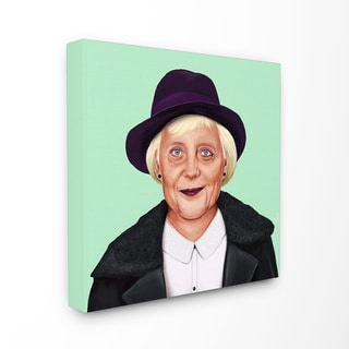 HIPSTORY Hipster Angela Merkel Stretched Canvas Wall Art