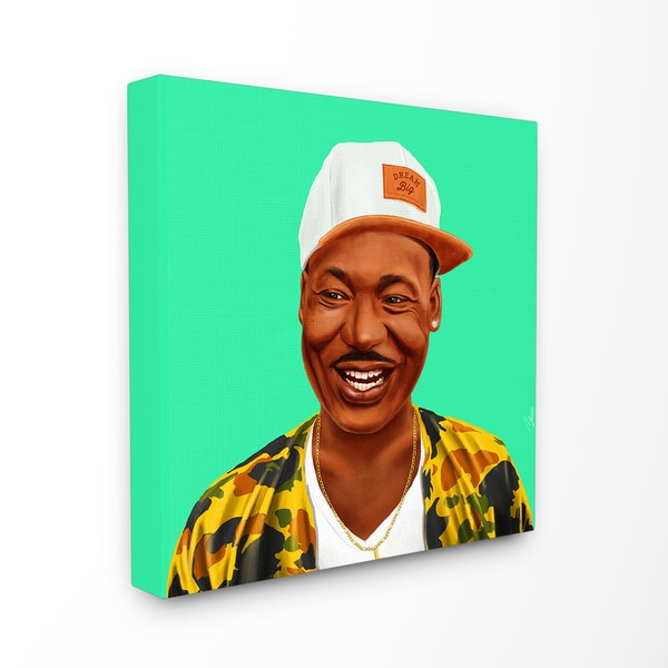 HIPSTORY Hipster MLK Martin Luther King Stretched Canvas Wall Art