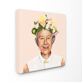 HIPSTORY Hipster Queen Elizabeth Stretched Canvas Wall Art