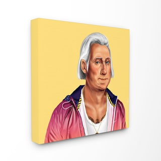 HIPSTORY Hipster George Washington Stretched Canvas Wall Art