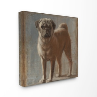 Vintage Chocolate Lab Stretched Canvas Wall Art