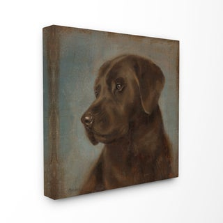 Vintage Pug Stretched Canvas Wall Art