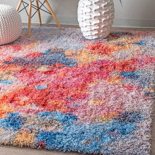 nuLOOM Contemporary Soft and Plush Vibrant Abstract Shag Multi Rug (8' x 10')