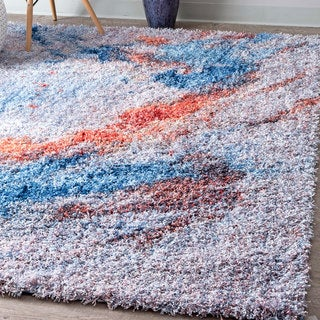 nuLOOM Modern Soft and Plush Abstract Morning Shag Multi Rug (8' x 10')