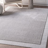 nuLOOM Causal Simplicity Soild Striped Grey Rug - 8' x 10'