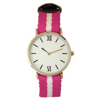 Olivia Pratt Sporty Striped Fabric Watch One Size