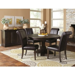 French Baroque Designed Round Dining Set with Matching Storage Buffet Server