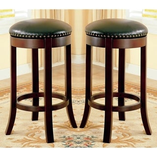 Link to Wilmington Design Swivel Dining Stools with Nailhead Trim (Set of 2) Similar Items in Dining Room & Bar Furniture