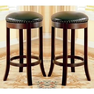 Wilmington Swivel Bar Stools with Nailhead Trim