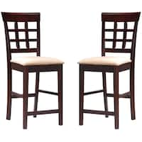 St. Moritz Open Grid Design Counter Height Dining Stools (Set of 2)
