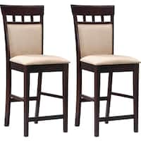 St. Moritz Grid Design Counter Height Stools (Set of 2)