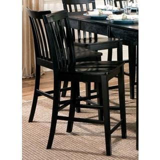 Coaster Company Black Wood Slat Back Counter Stools Set