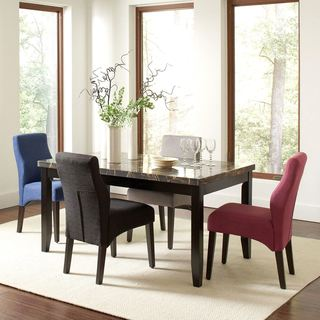Luxenberg Casual Style Dining Set With Marble Like Top