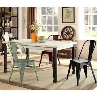 Vintage Retro Distressed Artistic 5-piece Dining Set