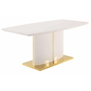 Contemporary Modern Design Gold-tone Dining Table