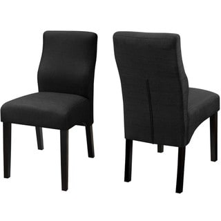 Luxenberg Casual Black Parson Chairs (Set of 2)