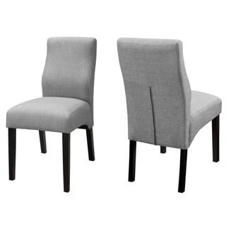 Luxenberg Casual Grey Parson Chairs (Set of 2)