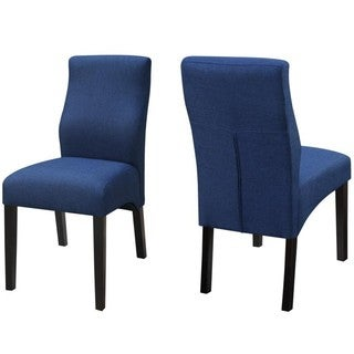 Luxenberg Casual Dark Blue Parson Chairs (Set of 2)