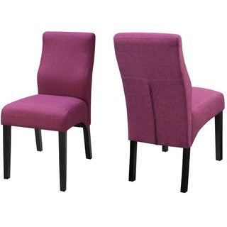 Luxenberg Casual Purple Parson Chairs (Set of 2)