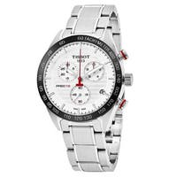 Tissot Men's  'PRS 516' White Dial Stainless Steel Chronograph Swiss Quartz Watch