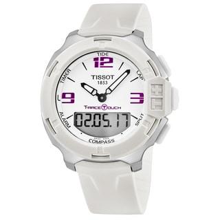 Tissot Men's T0814201701700 'T Race' White Dial White Rubber Strap Multifunction Swiss Quartz Watch
