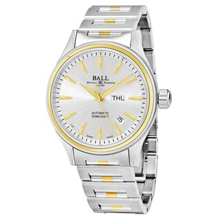 Ball Men's NM2110C-2T-SJ-S 'Fireman' Silver Dial Stainless Steel/Gold Swiss Automatic Watch