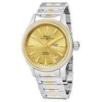 Ball Men's  'Fireman' Gold Dial Stainless Steel/Gold Swiss Automatic Watch