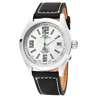 Ball Men's NM1020C-L4-WH 'Engineer II' Silver Dial Brown Leather Strap Swiss Automatic Watch